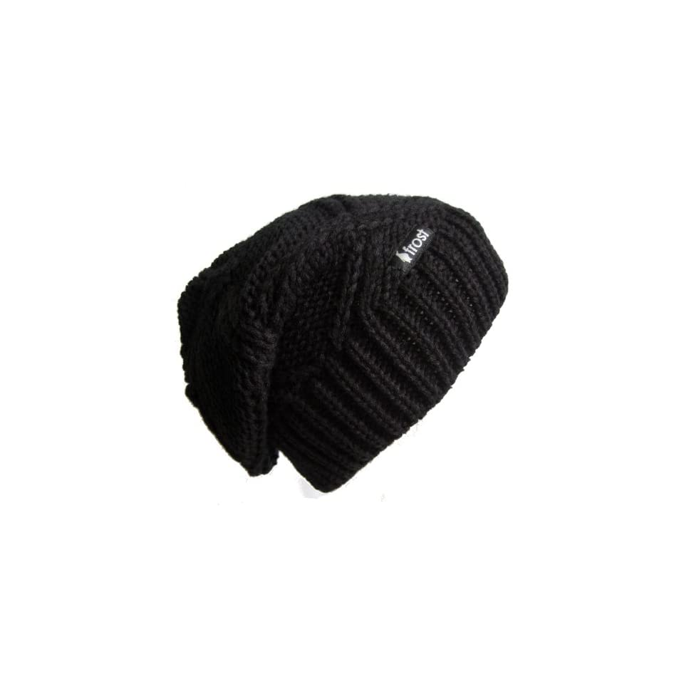 7bf0e84f6f2 Frost Hats M 113NF BLACK Winter Hat for Women Slouchy Beanie Chunky Knitted  Hat Winter Hat