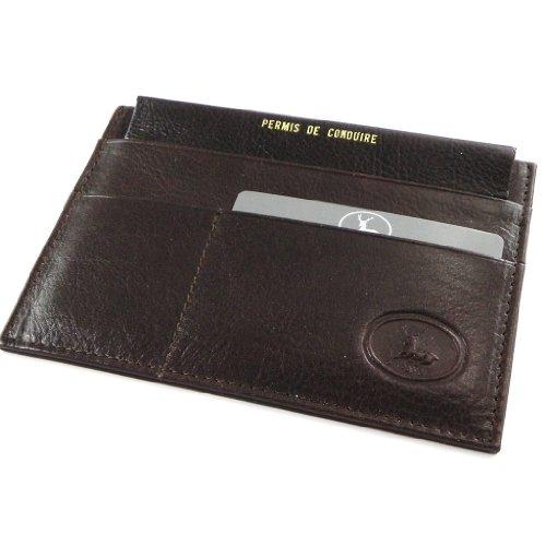 Porta documenti in pelle auto 'Frandi' marrone dakota (slim).