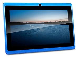 CONNECT A7 Classic B Tablette Tactile - 7 pouces écran capacitif, Android 4.2, 4 Go de stockage, 1.2GHz processeur, caméra frontale, WIFI Tablet PC, vidéo HD, batterie 2400mah, Google Play Store, soutient Word, Excel, PowerPoint, PDF et plus (Blue)