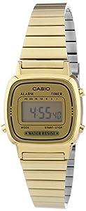 CASIO La670Wega-9Ef - Reloj de mujer de cuarzo, correa de acero inoxidable color oro