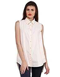 Oxolloxo Women peach high-low shirt