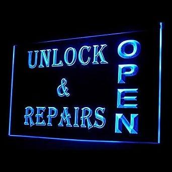 Buw Unlock Repairs Open Advertising Led Light Sign