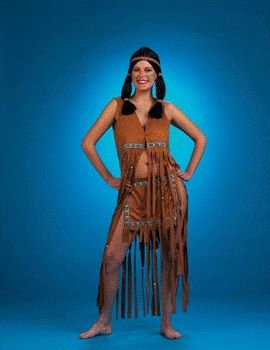 Native American Indian Maiden Sexy Adult Halloween Costume Size 8-10 Medium