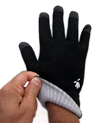 SwypeGloves Medium Black Texting Gloves - 'Streets of New York' Touchscreen Gloves (Medium, Black)