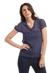 Prym Women's Body Blouse Shirt (1011517001_Navy Mix_Medium)