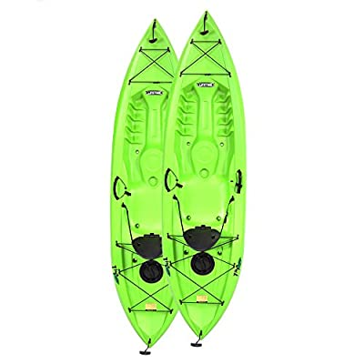"90643 Lifetime Tioga Sit-On-Top Kayak with Paddle (2 Pack), Lime, 120"" from Lifetime OUTDOORS"