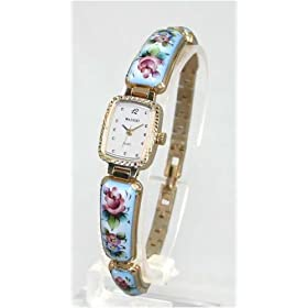 MARINOFF Women's Handpainted Limited Edition Russian Artisan Watch. Model: MAR-BL-250