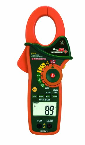 Extech Ex830 1000 Ampere Ac/Dc True Rms Clamp Meter With Infrared Thermometer