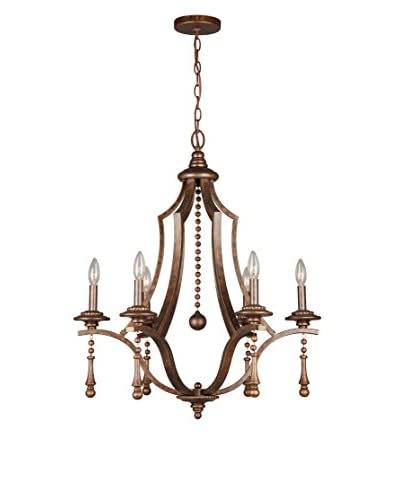 Gold Coast Lighting Parson 6-Light Chandelier, English Bronze