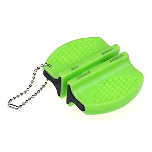 Abc New Mini Ceramic Rod Tungsten Steel Camp Kitchen Knife Sharpener Tool Green