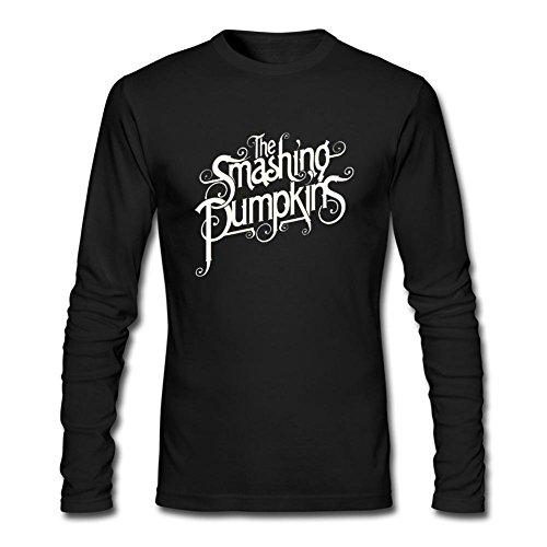 MINNRI Men's American?alternative rock?band Smashing Pumpkins Long Sleeve T-shirt Black XL (12 Alternatives To Time Out compare prices)