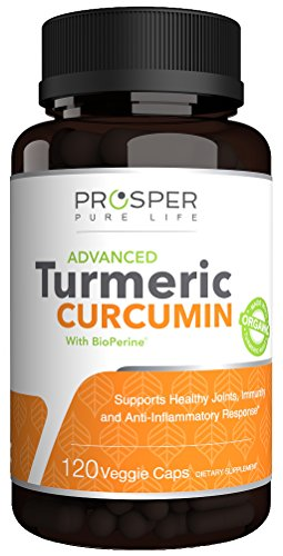 Double Strength Turmeric Curcumin + Bioperine 1400mg | 2 Month Supply | Non-GMO, Gluten Free | Organic Turmeric Capsules with Black Pepper | Premium Anti-Inflammatory & Joint Support