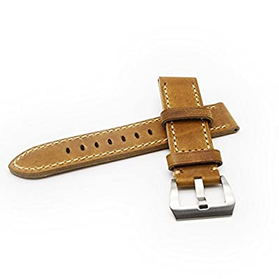 Ritche 22mm Watch Band Strap Italy Calf Leather Handmade Strap Fit for Lg Watch Urbane Pebble Time Watch