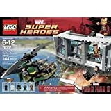 Game / Play LEGO Super Heroes Iron Man Malibu Mansion Attack (76007), Features Malibu Mansion Section Toy / Child...
