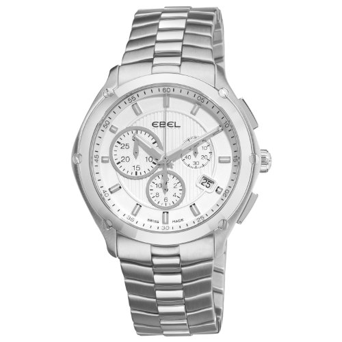 Ebel Men's 9503Q51/163450 Classic Sport Silver Chronograph Dial Watch