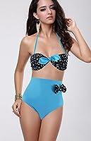 BSLINGERIE® Vintage Pois Taille haute taille Empire Maillots de bain Bikini