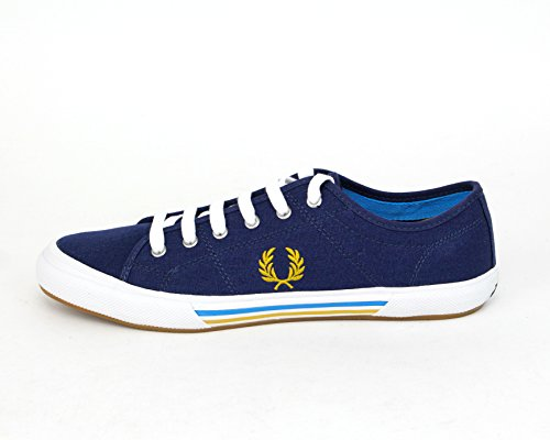 Fred Perry Men's Vintage Tennis Canvas Fashion Sneaker,French Navy,10 UK/11 M US (Perry Shoes compare prices)