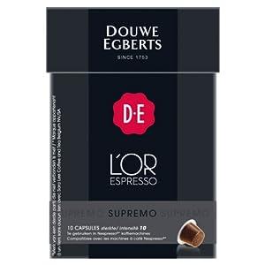Douwe Egberts L'OR Espresso Supremo, 10 Capsules, Nespresso compatible