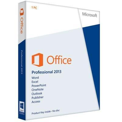 Microsoft Office Software 269-16094 2013 Professional English Medialess 32/64bit NA PR Brown Box