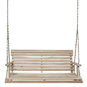 International Concepts Porch Swing with Chain from Whitewood Industries DBA International Concepts - Lawn & Garden