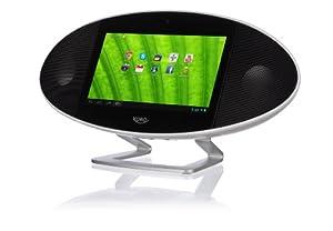 Xoro HMT 390 17,8 cm (7 Zoll) Internet-TV mit Radio (Rockchip Cortex A9, 1,0GHz, 512MB RAM, 4GB interner Speicher, WiFi, Bluetooth 2.1 mit EDR, HDMI, DLNA, Wetterstation, Android 4.1) schwarz/weiß