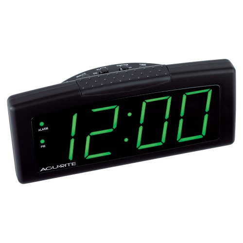 Chaney Instruments Digital Alarm Clock with Green LED