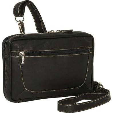 "Piel Leather Ladies Travel Wallet - 5.5"" x 8.5"" x 1.5"" - Leather - Black - Black"