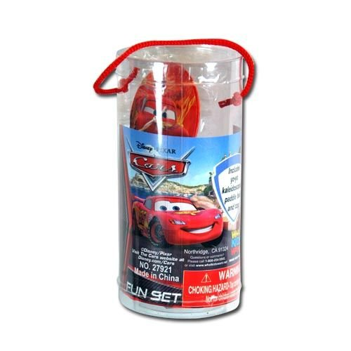 Disney Cars Fun Set in a Tube Includes: Mini Paddle Ball, Kaleidoscope, Yo Yo & Spin Tops