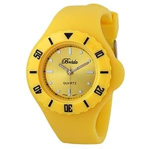 "Breda Women's 7107_yellow ""Zoe"" Retro Jelly Watch"