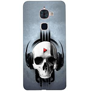 Casotec Rock the Music Pattern Design 3D Hard Back Case Cover for LeTV Le 2