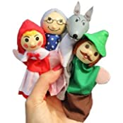 4 X Finger Puppets . Childrens Storytelling Helper, Hand Puppets .Little Red Riding Hood Ty041 Color: Little Red...