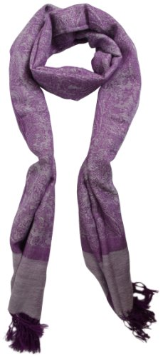 Women'S Paisly Design Super Soft And Silky Fashion Pashmina Shawl Wrap Scarf - Wine