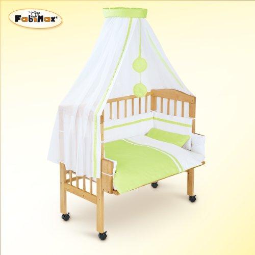 preisvergleich und test fabimax beistellbett classic mit vollausstattung hanna gr n matratze. Black Bedroom Furniture Sets. Home Design Ideas