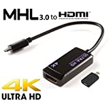 Samsung Galaxy Tab S2 MHL 3.0 HDTV Adapter! Easily Connects to your HDTV up to 4K using the official adapter! [RETAIL PACKAGING]