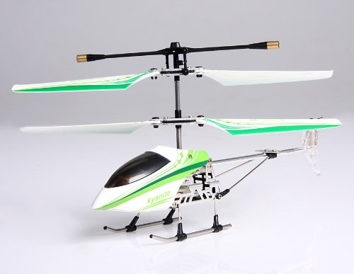 Gold Light 3-Channel Infrared RC Helicopter with Gyroscope (Green)