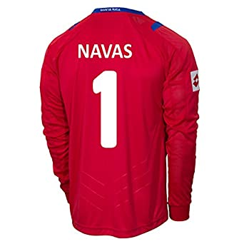 Buy Lotto NAVAS #1 Costa Rica Home Jersey World Cup 2014 (Long Sleeve) by Lotto