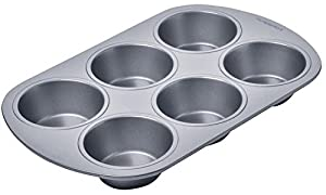 Chicago Metallic 13206 6 Cup Chicago Metallic Betterbake Non Stick Muffin Pan