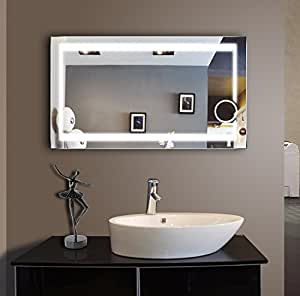 lighted bathroom mirror 48 x 28 in