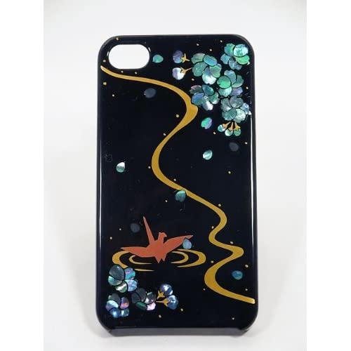 Amazon.com: Maki-e iPhone 4/4S Cover Case Made in Japan - Tsuru to Raden (Crane with Raden): Cell Phones & Accessories