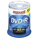 Maxell - 100 x DVD-R - 4.7 GB 16x - spindle - storage media
