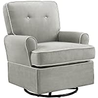 Baby Relax The Tinsley Nursery Swivel Glider Chair (Grey)