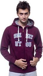 Unicott Full sleeves Brown printed Men's Sweatshirt (XL) (X-Large)