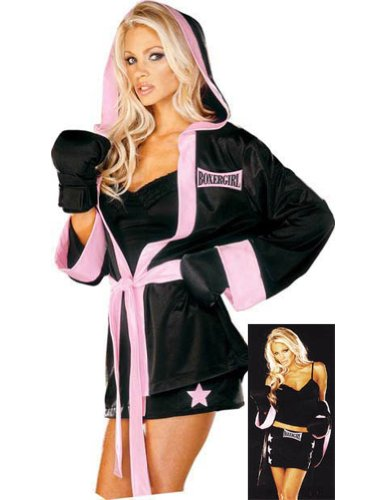 Adult-Costume Boxer Girl Lg Halloween Costume - Adult Large