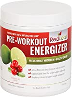 Red Leaf Pre-Workout Energizer - Sports Nutrition Supplement with BCAAs, Beta-Alanine, Glutamine, Green Tea, Raspberry Ketones - Cranberry Lime Flavor - 30 Servings from Integrated Sports Nutrition