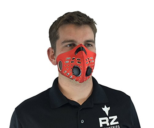 RZ-DustPollution-Mask-Bonus-Pack-w5-Laboratory-Tested-Filters-Model-M1-Red-Size-Regular