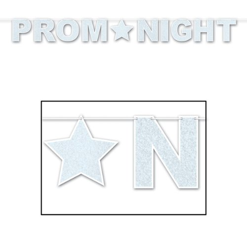 Glittered Prom Night Streamer Party Accessory (1 count) (1/Pkg)