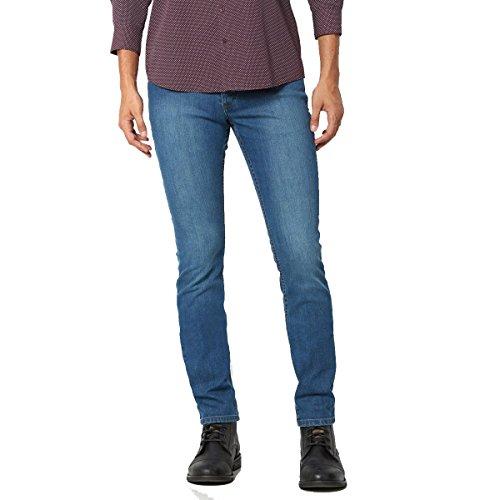 R Essentiel Uomo Pantaloni 5 Tasche Taglio Slim Lunghezza 34 Cm Taglia 44 Blu