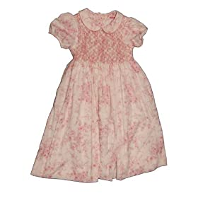 Girl Size 6 Large, White and Pink Cotton Frock Dress Outfit