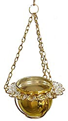 DollsofIndia Metal Hanging Candle Holder - Dia - 4 inches