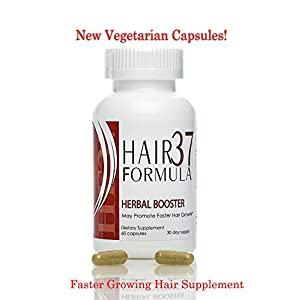 Faster Hair Growth Hair Formula 37 Herbal Booster Hair Supplement 60 Vegetarian Capsules 30 Day Supply